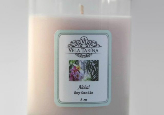 Aloha scent natural pure candle
