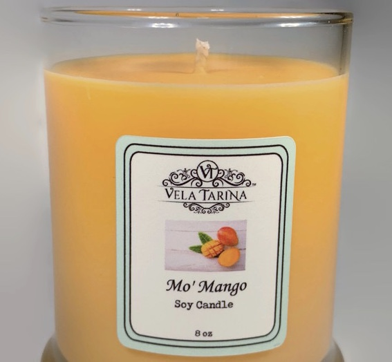 Mo' Mango pure soy candle